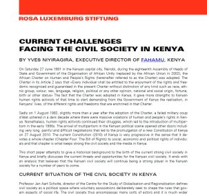 Paper: Current challenges facing the civil society in Kenya