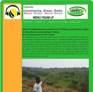 Newsletter: Community Green Radio Weekly Round Up No 3