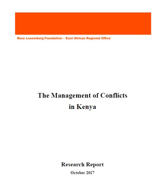 Research Report on the Management of Conflicts in Kenya-October 2017