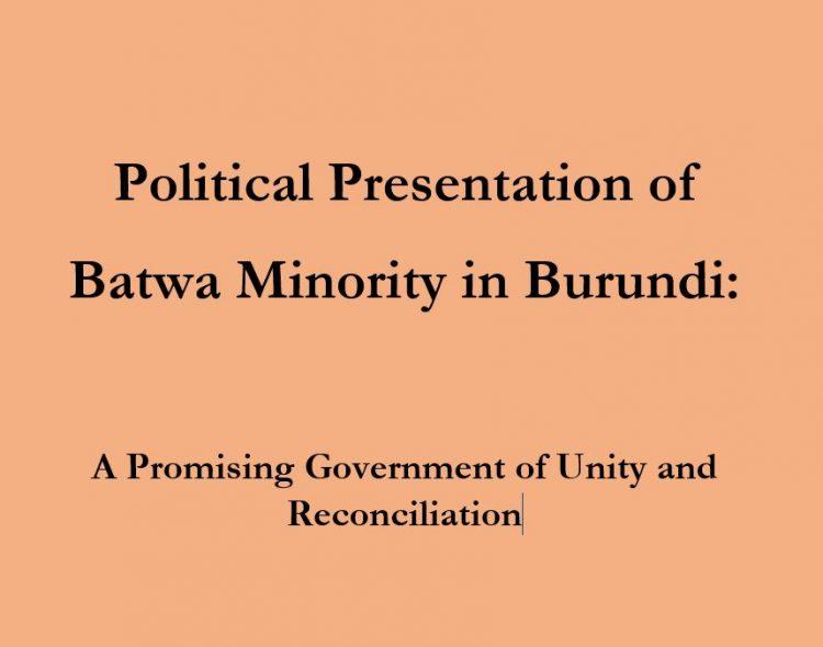 Political Presentation of Batwa Minority in Burundi