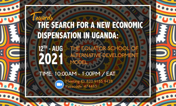 """CONFERENCE: """"The search for a New Economic Dispensation in Uganda"""" - Thursday 