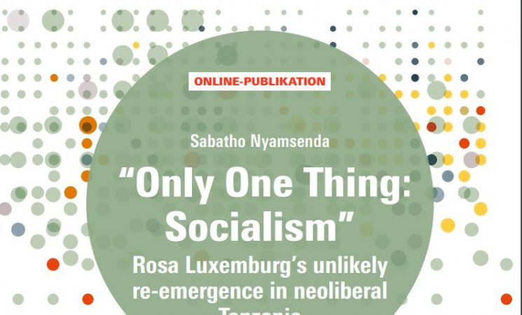 ONLY ONE THING: SOCIALISM - ROSA LUXEMBURG'S UNLIKELY RE-EMERGENCE IN NEOLIBERAL TANZANIA