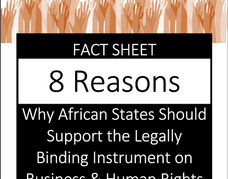 FACT SHEET: AFRICA SHOULD SUPPORT THE LEGALLY BINDING INSTRUMENT ON BUSINESS AND HUMAN RIGHTS