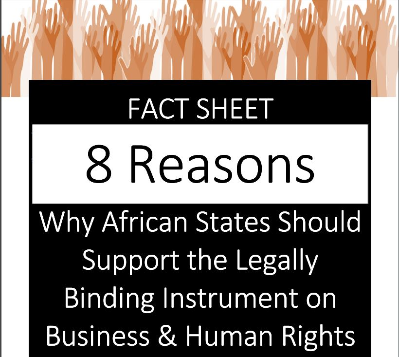 FACT SHEET: AFRICA SHOULD SUPPORT THE LEGALLY BINDING