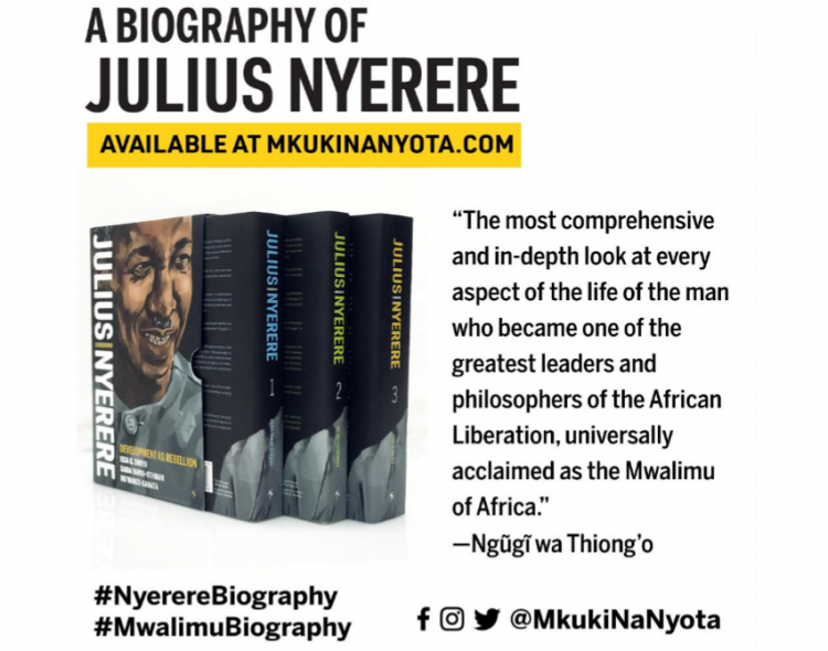 """DEVELOPMENT AS REBELLION: A BIOGRAPHY OF JULIUS NYERERE"" IS OUT!"